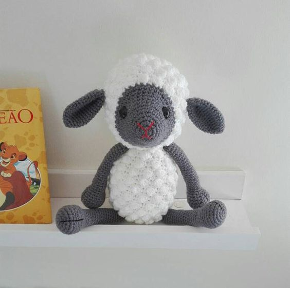 Amigurumi sheep Crochet toy by Pimentayflor on Etsy