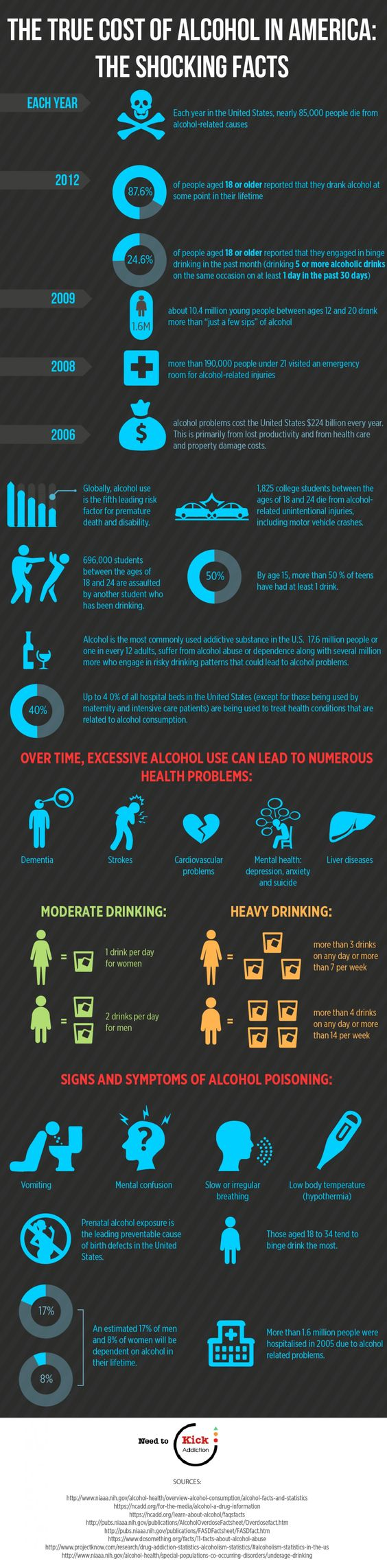 The true cost of alcohol in America Infographic