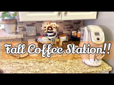 Seasonal Coffee Station Collab 2019 Hosts Diva Designing On A Dime Kenya S Decor Corner Youtube Seasonal Coffee Autumn Coffee Bar Drinks