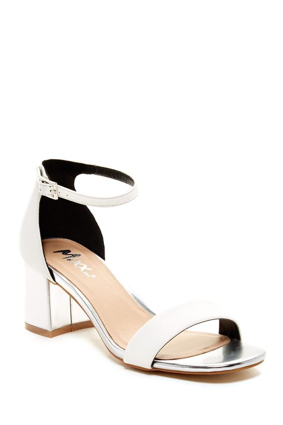 METALLIC! Mixx Shuz Sally Chunky Heel Ankle Strap Sandal. | Shoes ...