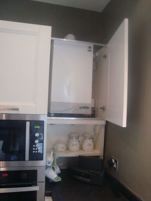 Kitchen Before And After 2 The Kitchen Think Boiler Cover Ideas Small Kitchenette Hidden Kitchen