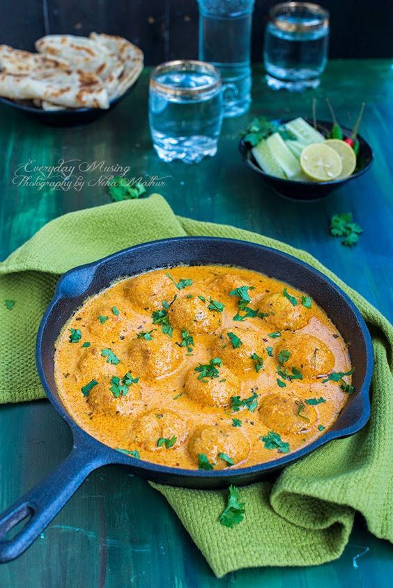 Malai Kofta/Cheese Dumplings Simmered In A Creamy Sauce Recipe ...