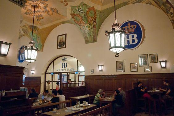 Hofbrauhaus interior. Munich.