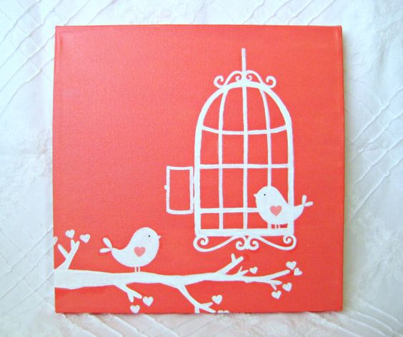 1000 Ideas About Bird Wall Art On Pinterest: Painting Walls, Bird Cages And Acrylic Paintings On Pinterest