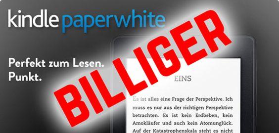 Kindle Paperwhite 2 billiger: Der neue Paperwhite jetzt günstiger - http://apfeleimer.de/2014/06/kindle-paperwhite-2-billiger-der-neue-paperwhite-jetzt-guenstiger - Kindle Paperwhite Aktion: Amazon wirft kurz vor der Urlaubszeit denKindle Paperwhite 2 zum günstigen Preis ins Rennen. Während bislang der neue Kindle Paperwhite 2 ab 129 Euro erhältlich war, reduziert Amazon heute den Preis des neuen Paperwhite auf 109 Euro. Damit ist der neue Kindle Ebook Rea...