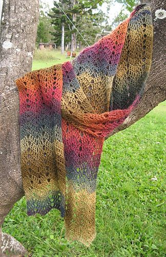 Keep it cuddly and colorful with a One-Skein Chevron Scarf, designed by Dena Stelly.