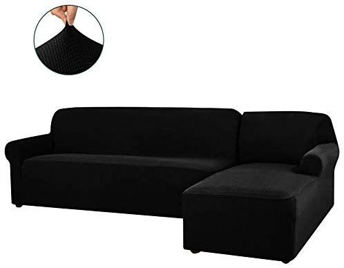 Chun Yi 2 Pieces L Shaped Right Chaise Sofa Slipcovers Soft Jacquard Stretch Sectional Sofa C In 2020 Corner Sofa Covers Sectional Sofa Couch Slipcovered Sofa