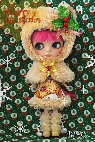 THIS IS BLYTHE - Teddy Christmas dress set (limited edition)