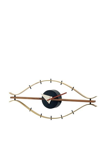 George Nelson Wood Eye Clock, Brass/Brown, http://www.myhabit.com/redirect/ref=qd_sw_dp_pi_li?url=http%3A%2F%2Fwww.myhabit.com%2Fdp%2FB002BVNK5S%3Frefcust%3DEELRRX53YCJTI46NVM6SSVWMP4