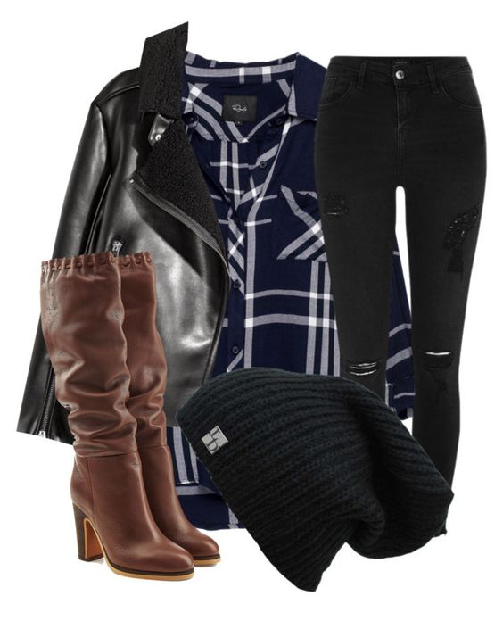 """""""Fall~"""" by fashstyle16 ❤ liked on Polyvore featuring Rails, River Island and See by Chloé"""