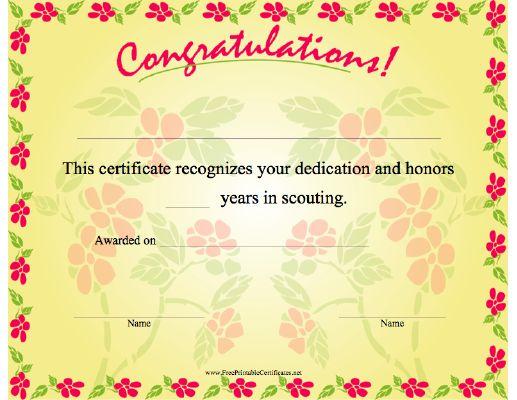 A happy birthday certificate congratulating the recipient The – Congratulations Certificate