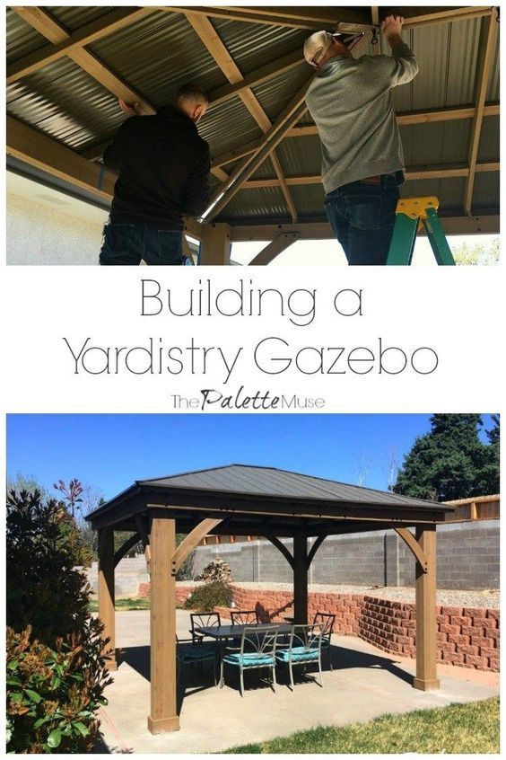Yardistry 12x14 Gazebo Installation Tips Gazebo Installation Diy Gazebo Patio Gazebo