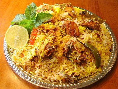 The authentic Hyderabadi Biryani is the king of all Indian Biryani recipes that you will ever savour. Named after one of the famous Indian cities, a truly delicious Hyderabadi Biryani. If you want this recipe please visit this link http://www.sailusfood.com/2010/02/14/hyderabadi-chicken-dum-biryani/