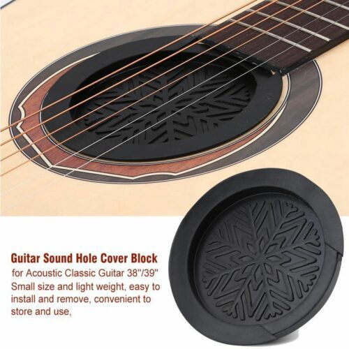 2 99 Sound Hole Cover Block Plug Screeching Halt For Acoustic Guitar 38 39 Rubber Acoustic Guitar Parts Acoustic Guitar Acoustic
