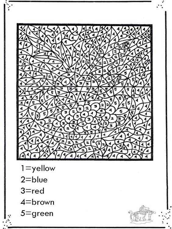 Coloring Pages For Teenagers Difficult Color By Number ...