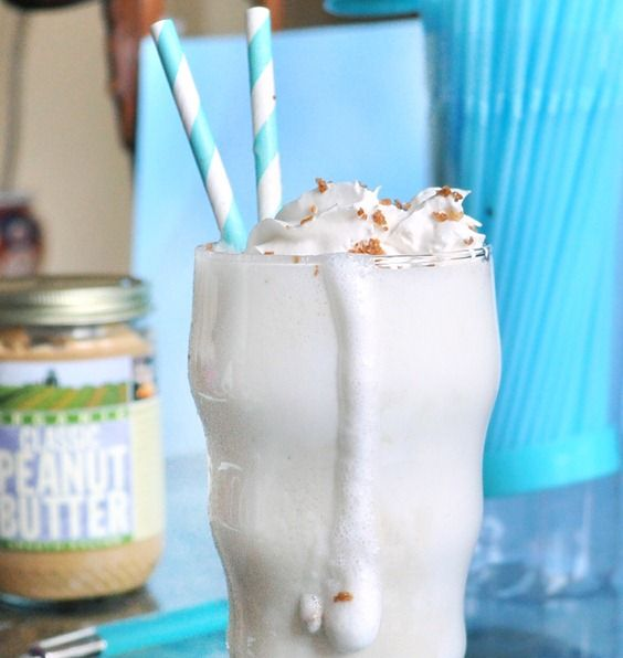 """""""Peanut Butter Cookie"""" protein shake. (This is ridiculously good!)"""