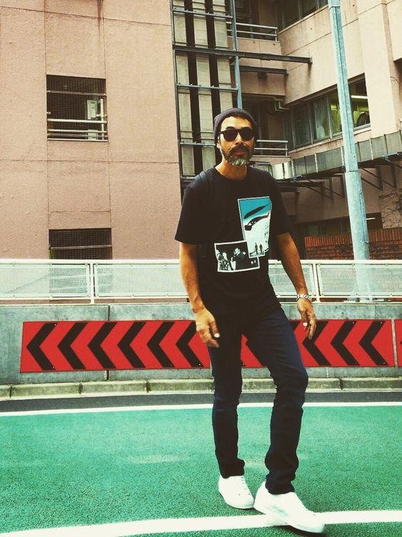 YosaKuginoさんのTシャツ/カットソー「adidas by RAF SIMONS T-SHIRT IN SWEATER JERSEY WITH GREEN EYE」を使ったコーディネート