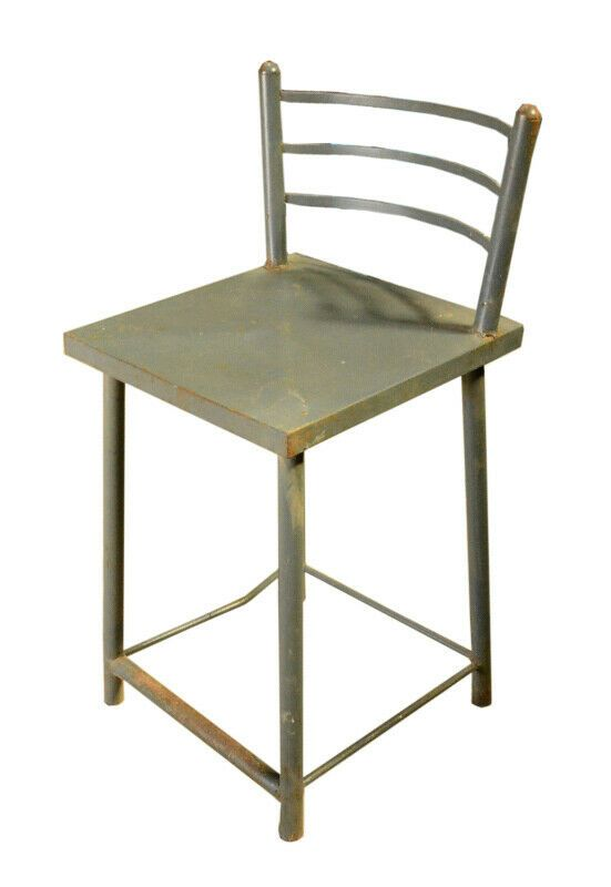 Chaise Haute Industriel Grise Vintage Metal Inde 35x35x75cm Dining Chairs Chair Furniture