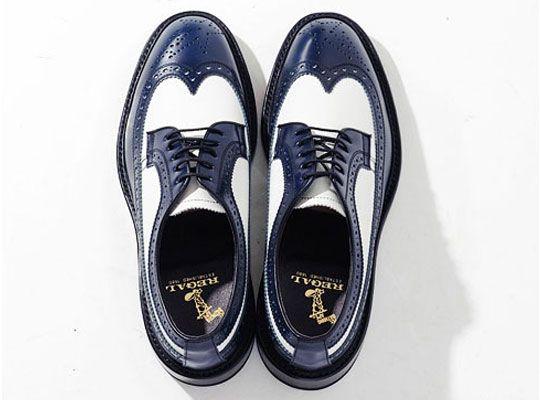 Mr. Bathing Ape x Regal Wing Tip Shoe White/Navy
