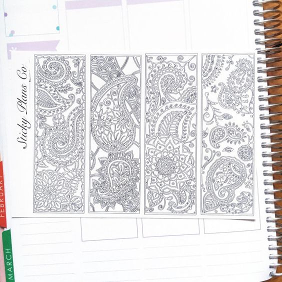 Paisley Colouring Sidebars / Perfect for the Erin von StickyPlansCo