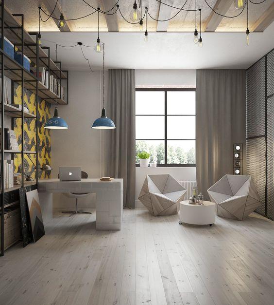 diseo interiores habi loft consultorio oficina sala juego buhardilla iluminacion oficina de diseo industrial interiores