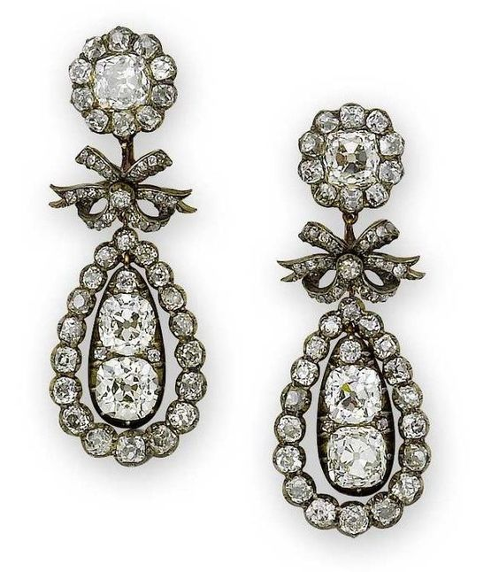 Earrings from the Regency era