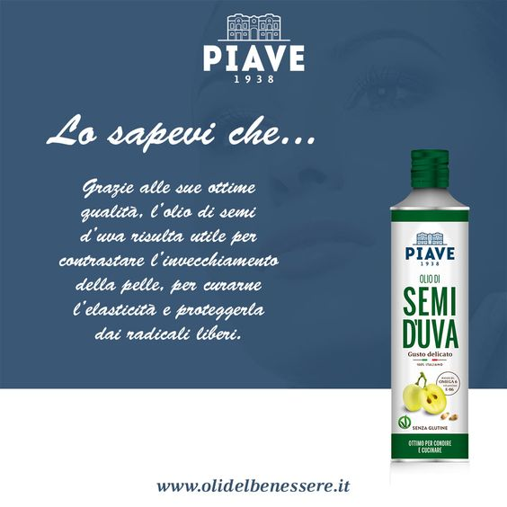 Lo sapevi che... l'olio di semi d'uva #Piave non è solo #buono, ma è anche #sano?