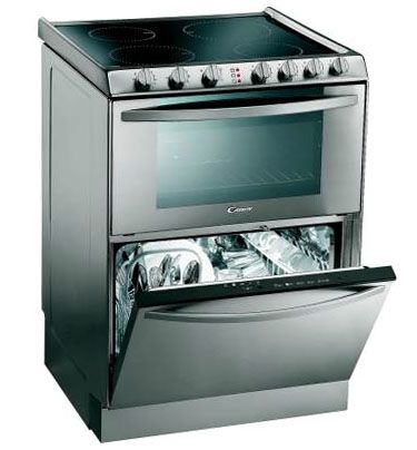 Dishwashers stove top oven and kitchen appliances on pinterest - Space saving appliances small kitchens minimalist ...