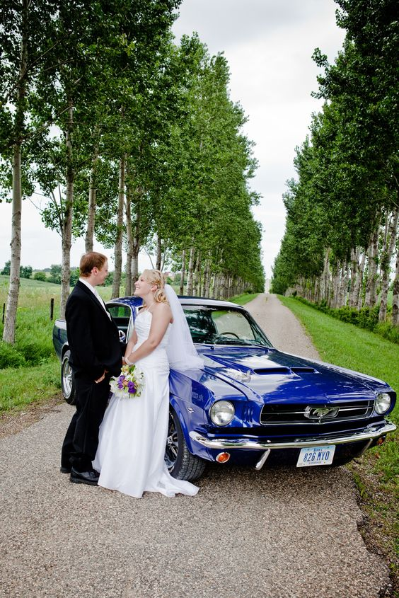 Our daughter Tricia and her husband Bj with our Mustang on their wedding day, July 23, 2011.: Mustang, Husband Bj, July 23, Wedding Ideas, Wedding Day, Daughter Tricia