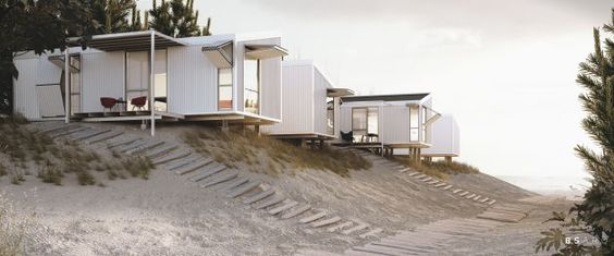 CGarchitect - Professional 3D Architectural Visualization User Community | Prefab Housing in the Dunes