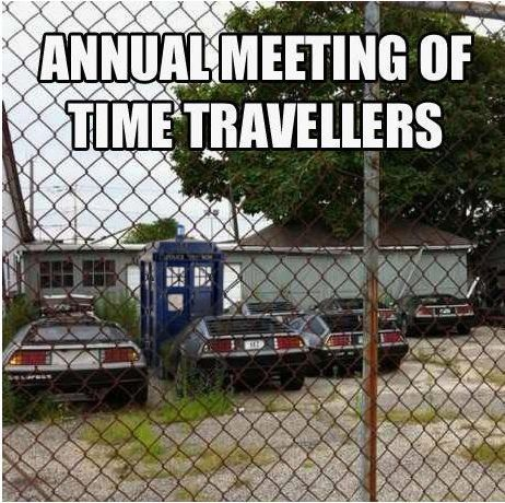 Annual meeting of time travelers.
