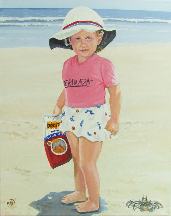 (Doritos bag and crab were not in photo)For painted portraits call McClellan Douglas at  (803) 381-4256