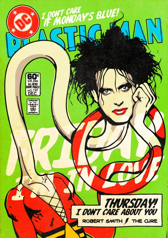 Robert Smith (The Cure) as Plastic Man | 7 Post-Punk And New Wave Rock Stars Reimagined As Superheroes