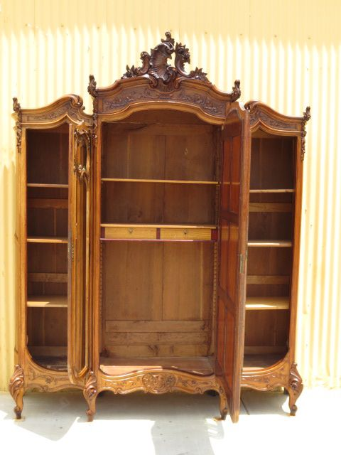 french antique hand carved armoire. This Is An Absolutely Stunning Original French Antique Armoire That Hand Carved Out Of Walnut And Dates From Description I Searched For On R
