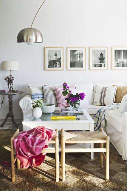 我們看到了。我們是生活@家。: 希臘的建築師&室內設計師Eleni,給我們一些關於客廳佈置的靈感,