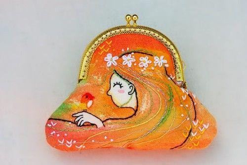 embroidered mini purse