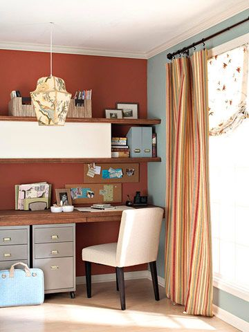 #BHG This was the inspiration photo for the color scheme in the master bedroom.