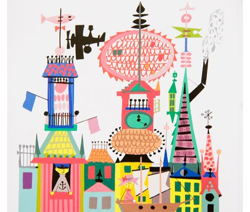 Stig Lindberg Childrens Book Illustrations. Love the colours.