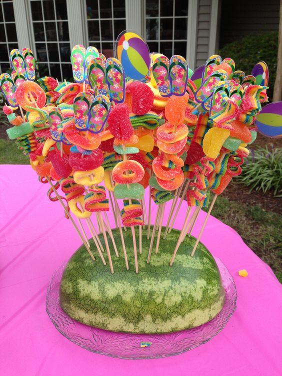 Fruit snack, air head skewers! Cute
