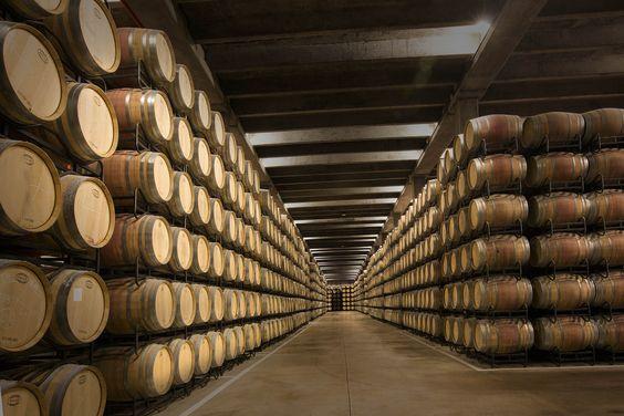 En estas barricas maduran nuestros vinos.