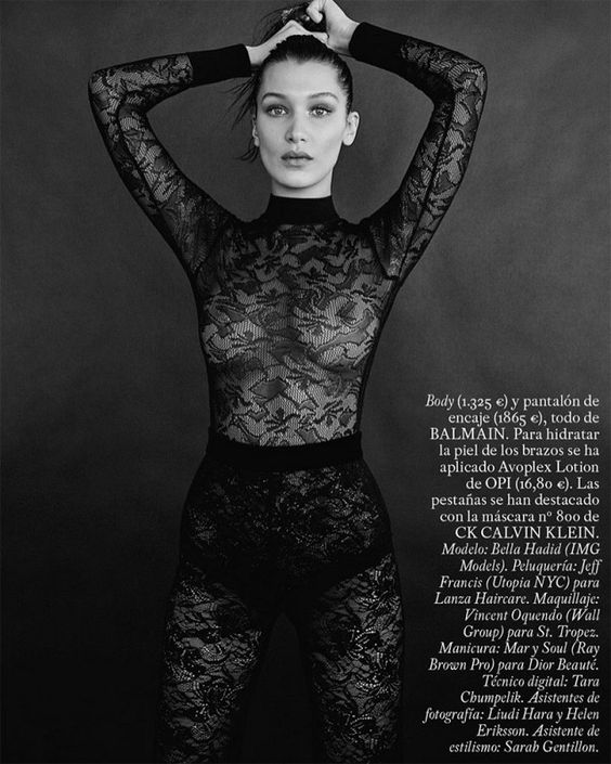 See Bella Hadid's Most Glamorous Photo Shoot Ever   Moda ...
