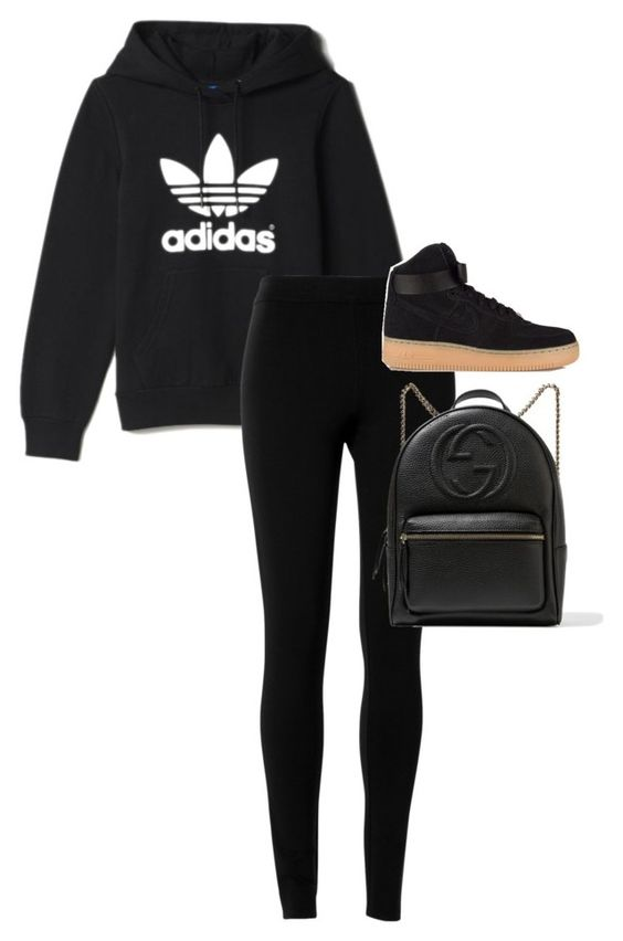 """""""Unbenannt #1958"""" by xaieaxx ❤ liked on Polyvore featuring adidas, Max Studio, NIKE and Gucci"""