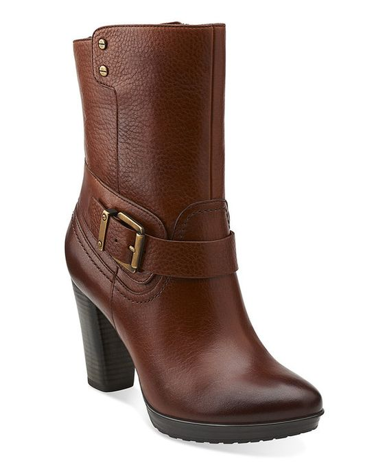 Loving this Brown Lida Sayer Ankle Boot on #zulily! #zulilyfinds