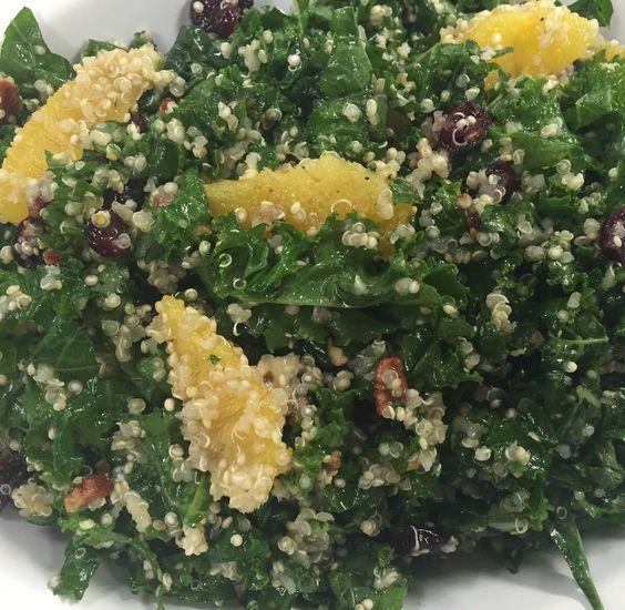 Quinoa and Kale Salad with Toasted Sesame Vinaigrette