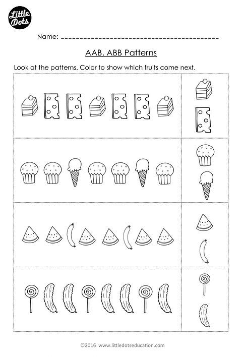Free The Very Hungry Caterpillar Patterning Worksheet Practice To Continue Aab And Abb Patterns Pattern Worksheet Preschool Math Patterns Preschool Patterns