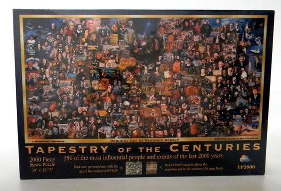 1000 Piece Jigsaw Puzzle Tapestry of the Centuries Influential People Events  #SunsOut