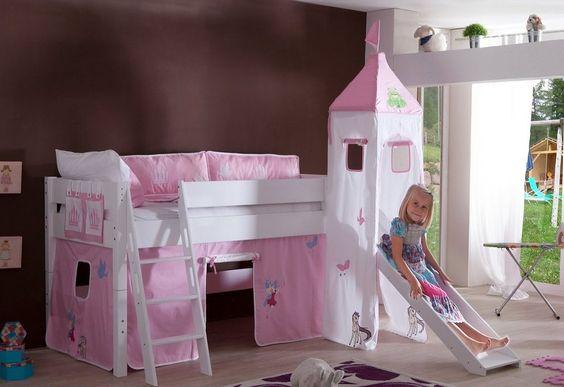 Relita Einzel Halbhohes Bett, Set 3tlg \gt;\gt;Kim - schlafzimmer mit dachschräge farblich gestalten