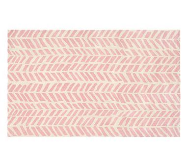 Chevron Arrows Rug Light Pink Nursery