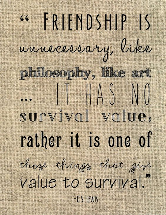"C.S. Lewis friendship quote typography print - ""Friendship ..."