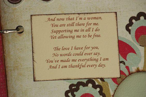 Word album for Mom, Mother's Day, gift for mom, premade scrapbook, photo album. $29.00, via Etsy.